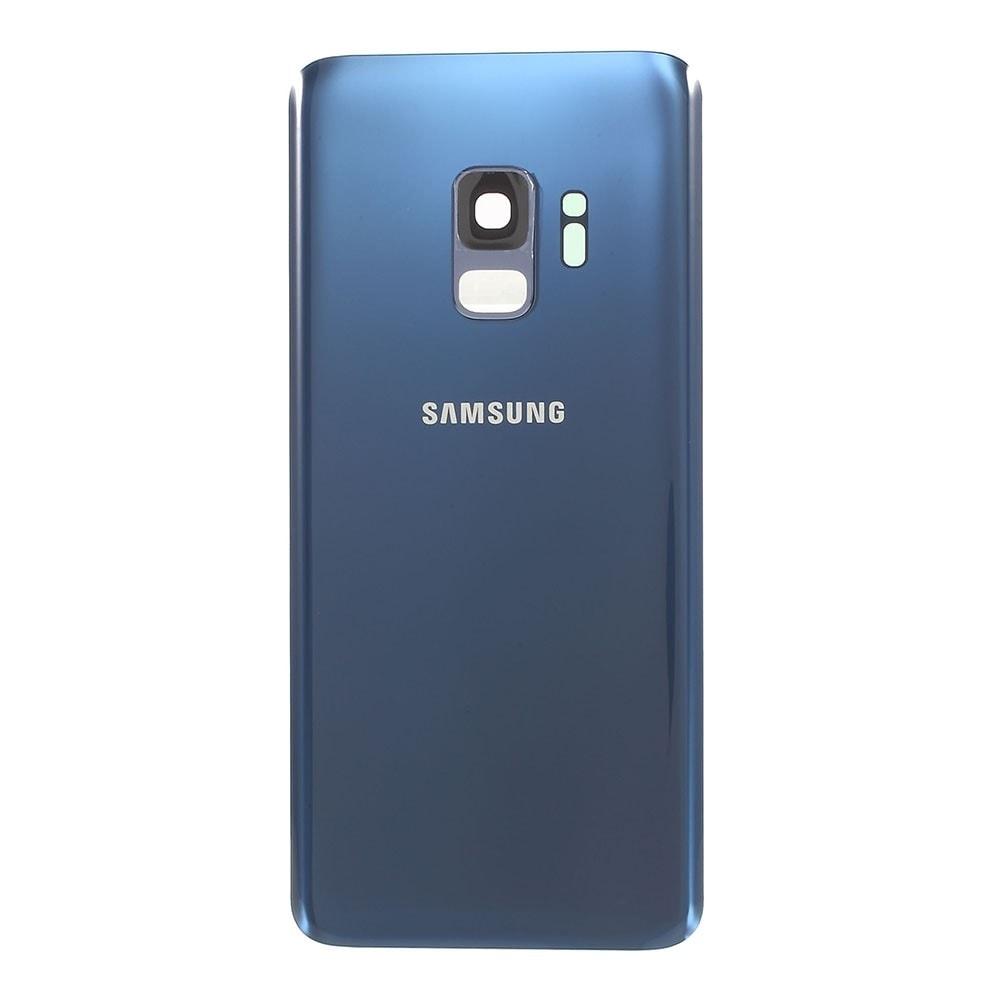 Samsung Galaxy S9 zadní kryt baterie osazený včetně krytky čočky fotoaparátu modrý G960