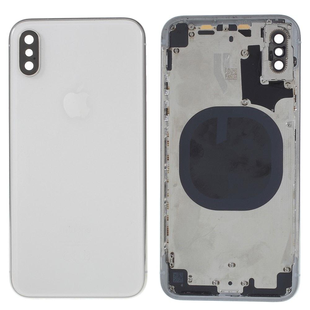 Apple iPhone X zadní kryt baterie bílý včetně středového rámečku stříbrný