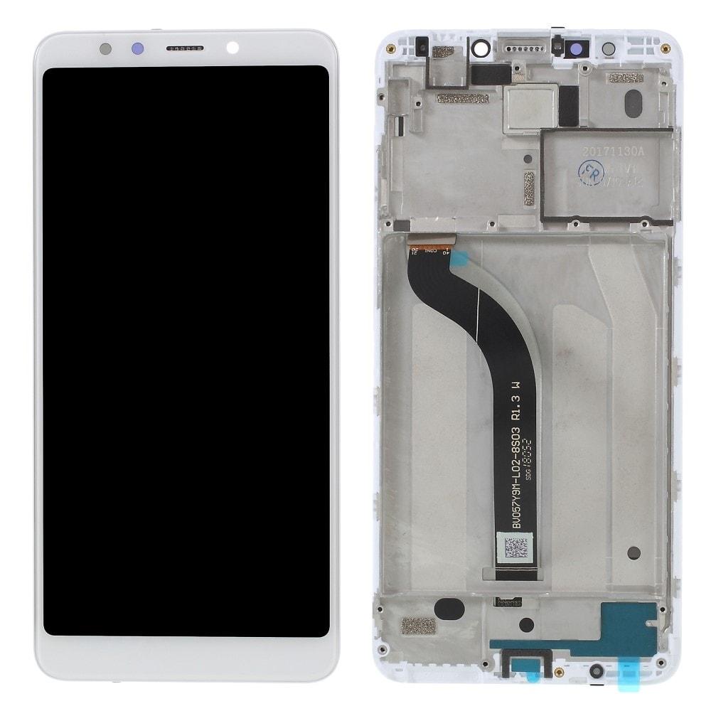 Xiaomi Redmi 5 LCD displej dotykové sklo bílé komplet přední panel včetně rámečku