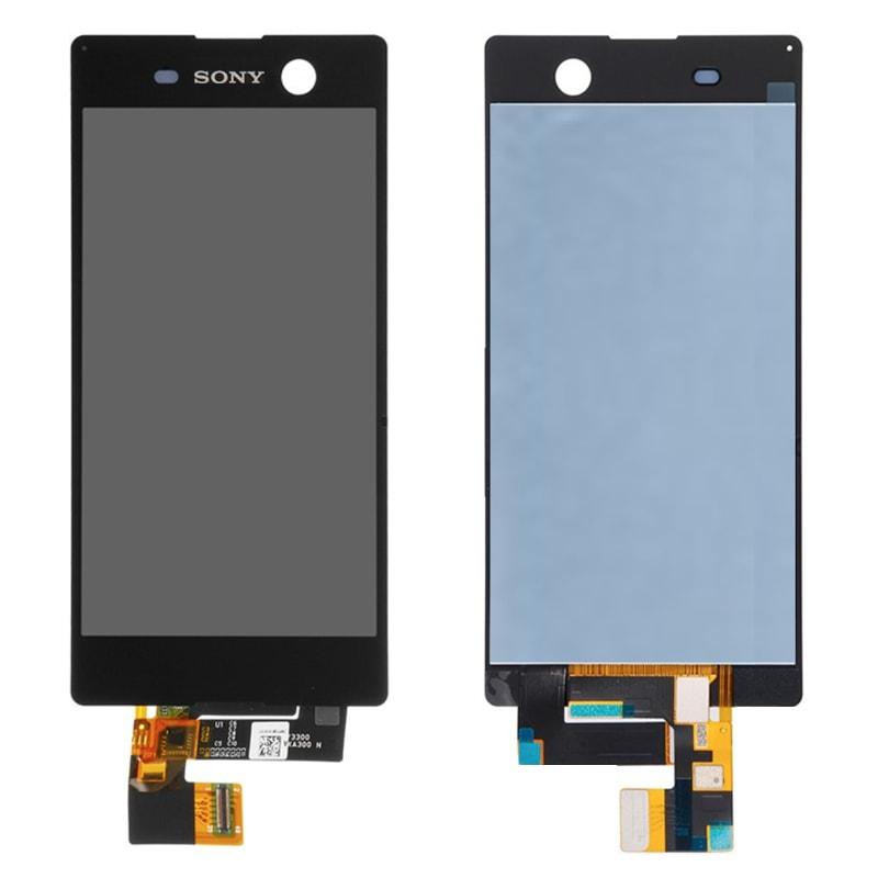 Sony Xperia M5 LCD displej černý + dotykové sklo komplet E5603