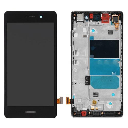 Huawei P8 Lite LCD displej dotykové sklo černé rámeček