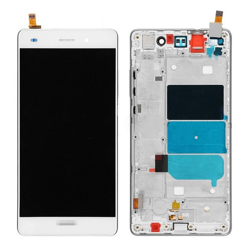 Huawei P8 Lite LCD displej dotykové sklo bílé rámeček