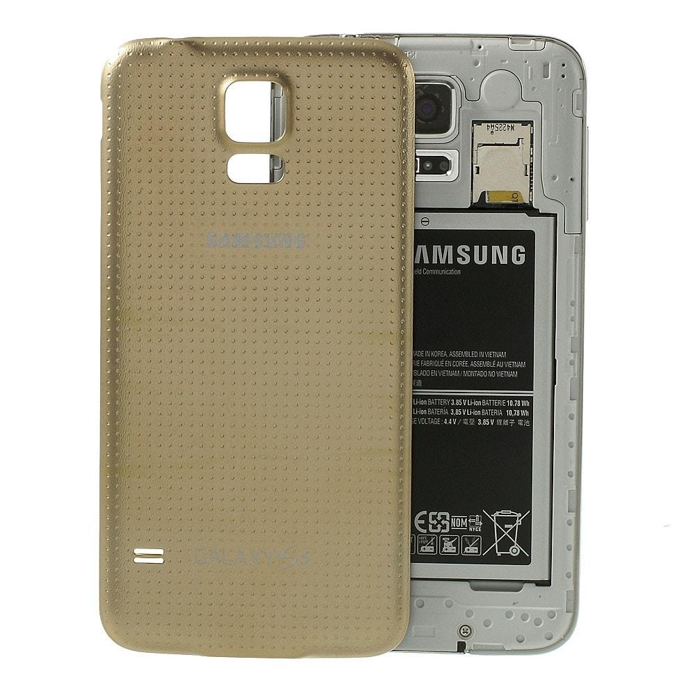 Samsung Galaxy S5 zadní kryt baterie zlatý G900