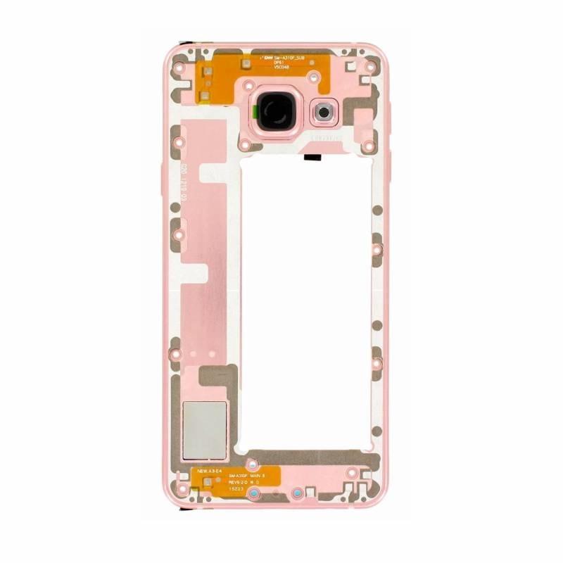 Samsung Galaxy A3 2016 střední rámeček kryt růžový A310F