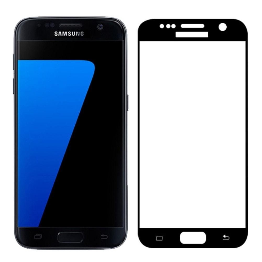 Samsung Galaxy S7 Ochranné 3D tvrzené sklo černé G930F
