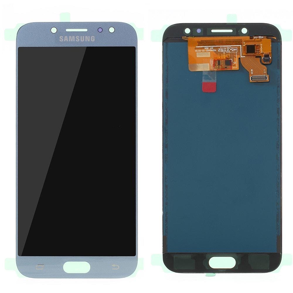 Samsung Galaxy J7 2017 LCD displej TFT dotykové sklo komplet přední panel modrý J730