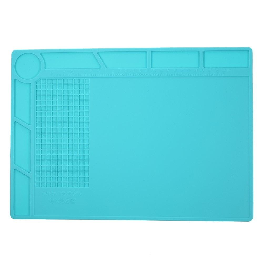 Silikonová podložka na servisní stůl antitepelná modrá
