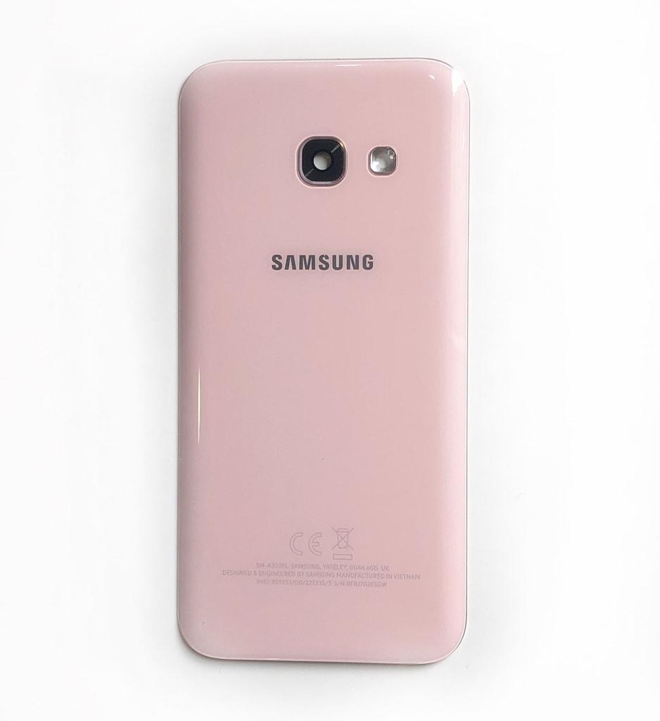 Samsung Galaxy A3 2017 zadní kryt baterie originální A320F růžový použitý