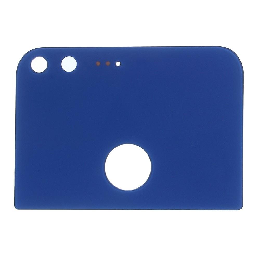 Google Pixel XL zadní horní skleněná krytka modrá M1