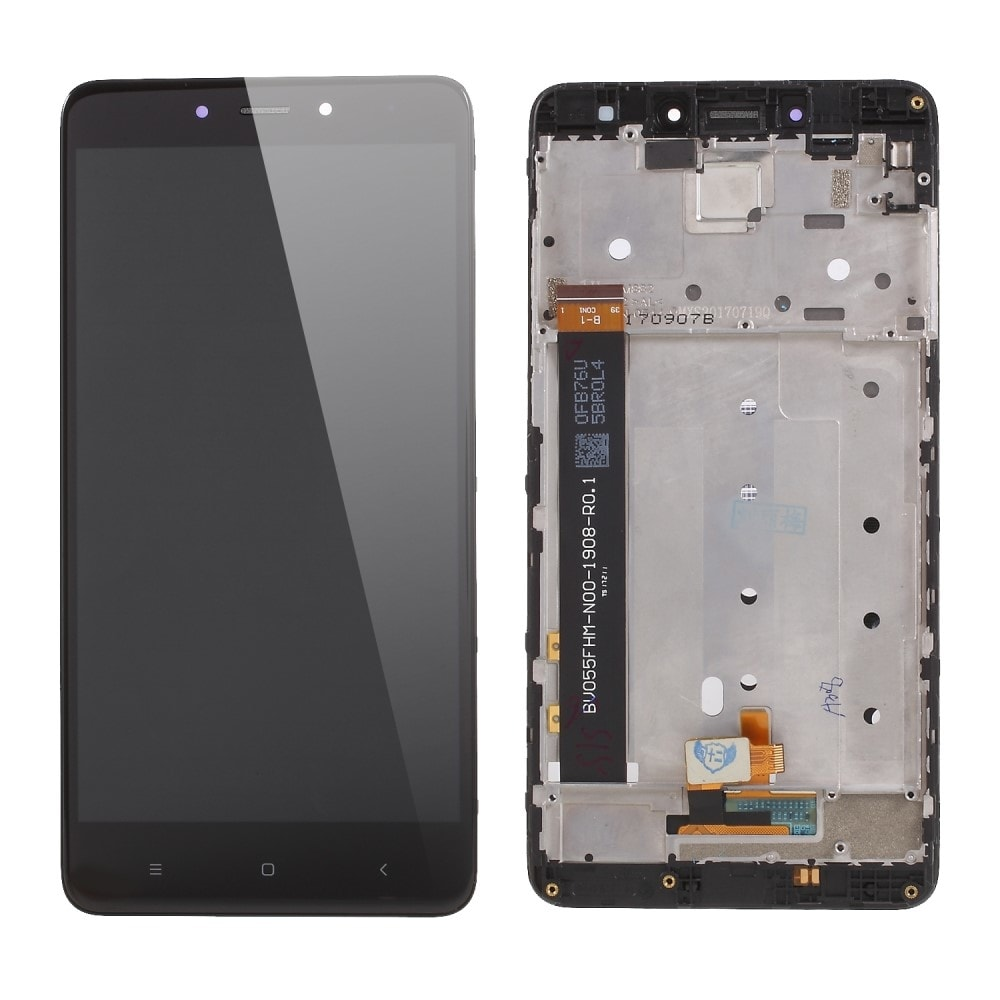 Xiaomi Redmi Note 4 / 4X LCD displej komplet dotykové sklo černý včetně rámečku