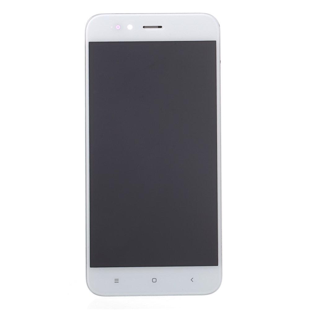 Xiaomi Mi A1 LCD displej dotykové sklo komplet včetně rámečku bílý