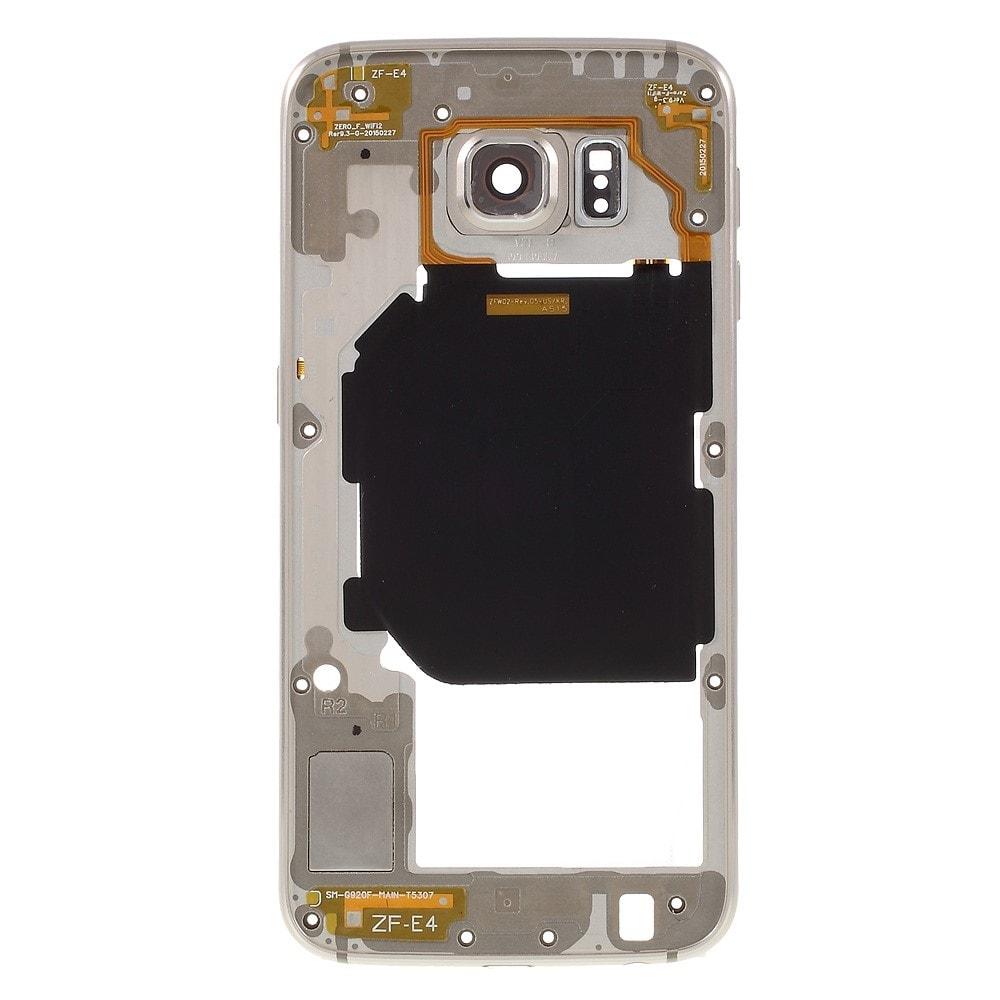 Samsung Galaxy S6 středový rámeček střední kryt LCD zlatý G920F