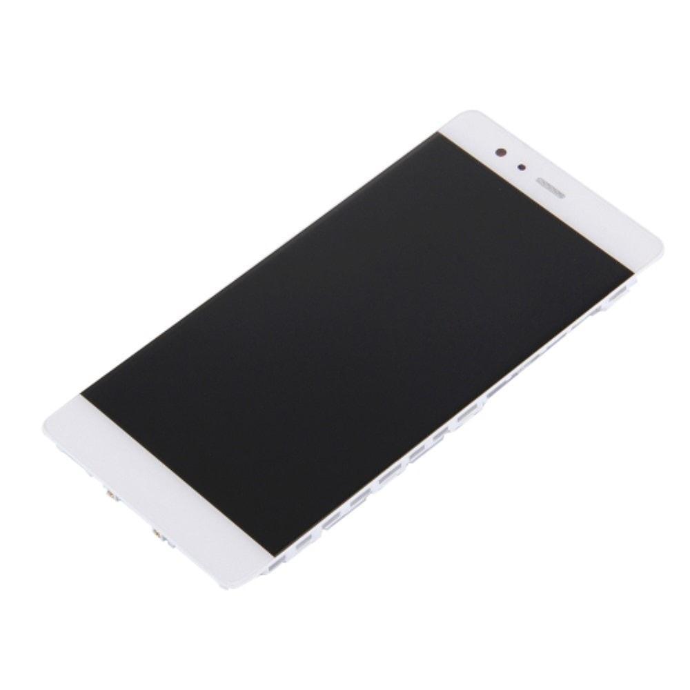 Huawei P9 LCD displej dotykové sklo komlet přední panel včetně rámečku bílý