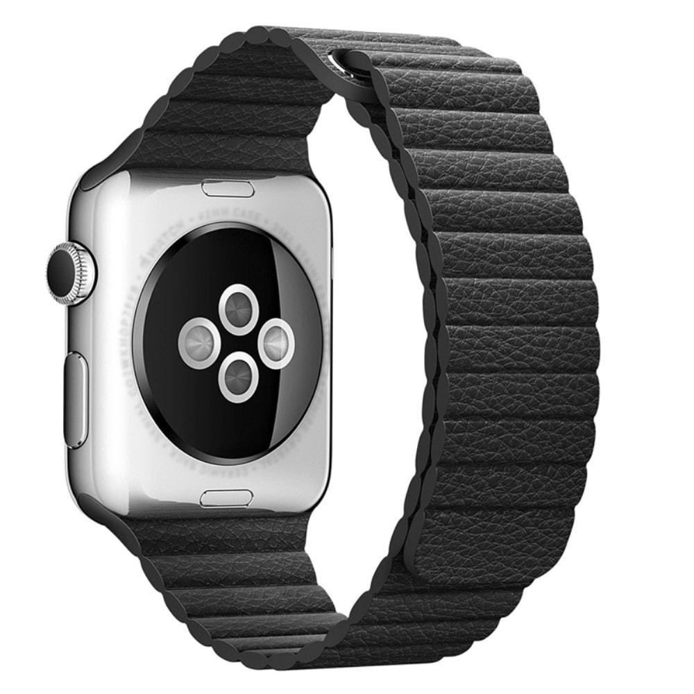 Apple Watch 42mm 44MM řemínek kožený provlékací černý