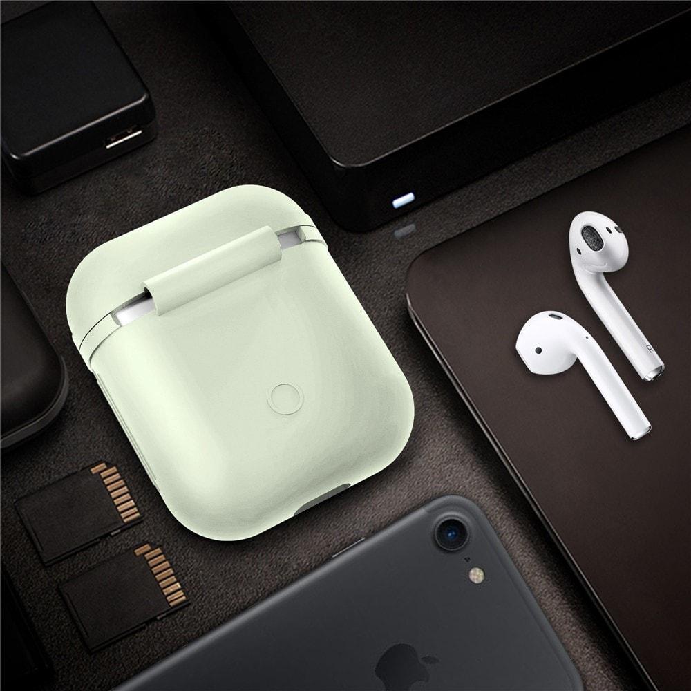 Apple Airpods ochranný kryt silikonový obal na beztrádová sluchátka fosforeskující