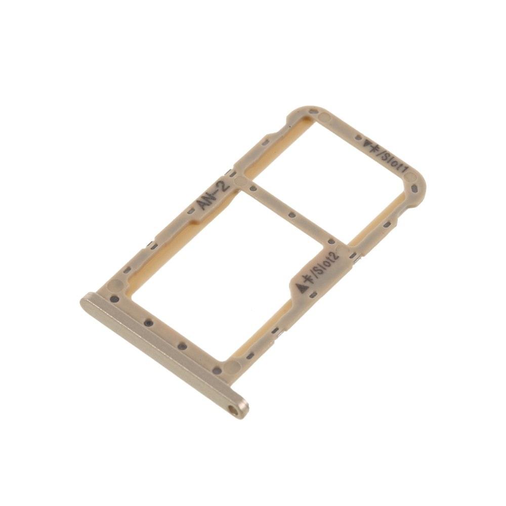 Huawei P20 Lite šuplík na SIM SD kartu tray slot zlatý