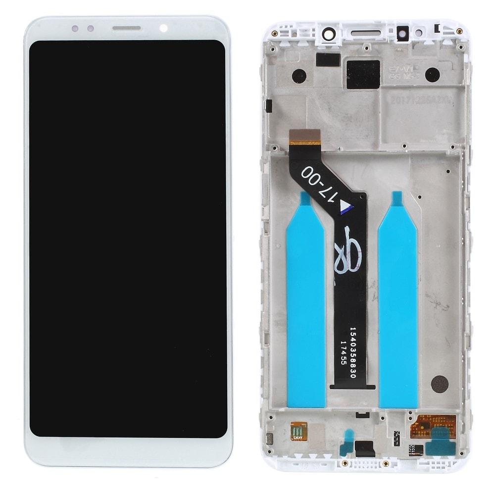 Xiaomi Redmi 5 Plus LCD displej dotykové sklo komplet přední panel bílý včetně rámečku
