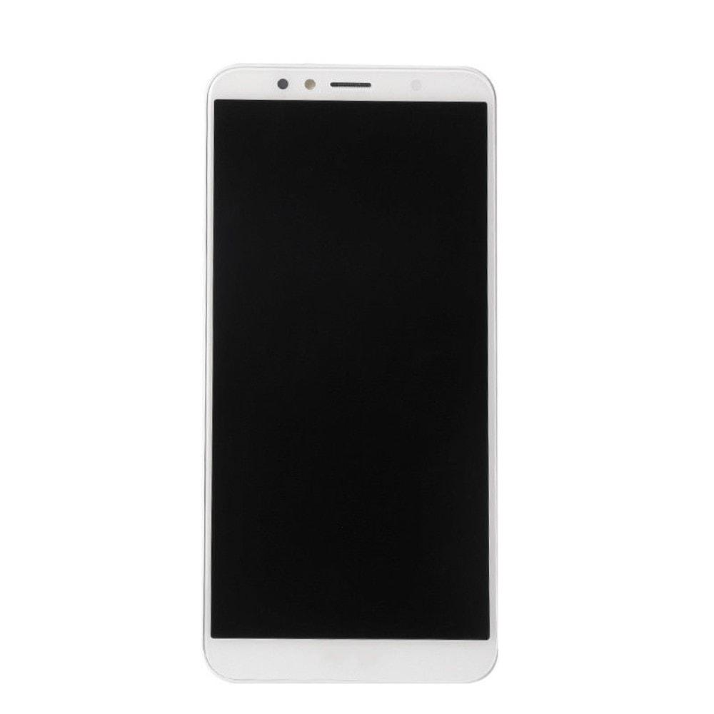 Huawei Y6 Prime 2018 LCD displej dotykové sklo bílé komplet přední panel včetně rámečku