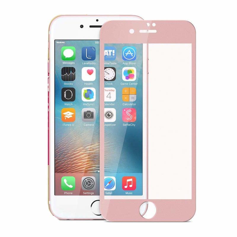Apple iPhone 7 plus / 8 Plus 5D Ochranné tvrzené sklo růžové rose
