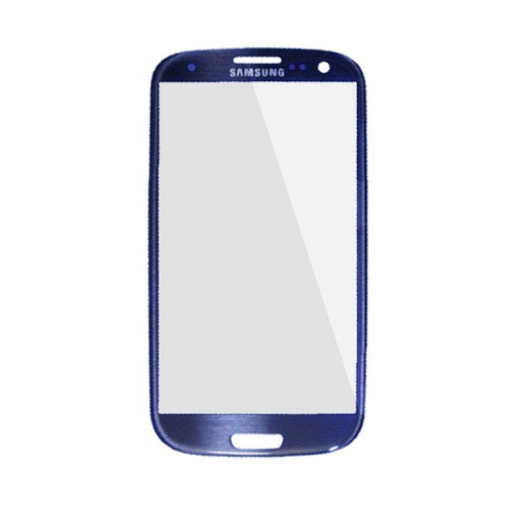 Samsung Galaxy S3 krycí sklo displeje modré pebble blue i9300