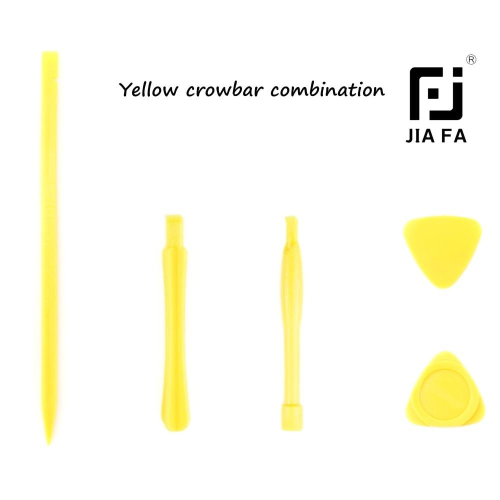 5ti dílná sada plastového nářadí trsátka páčidla JIA FA yellow