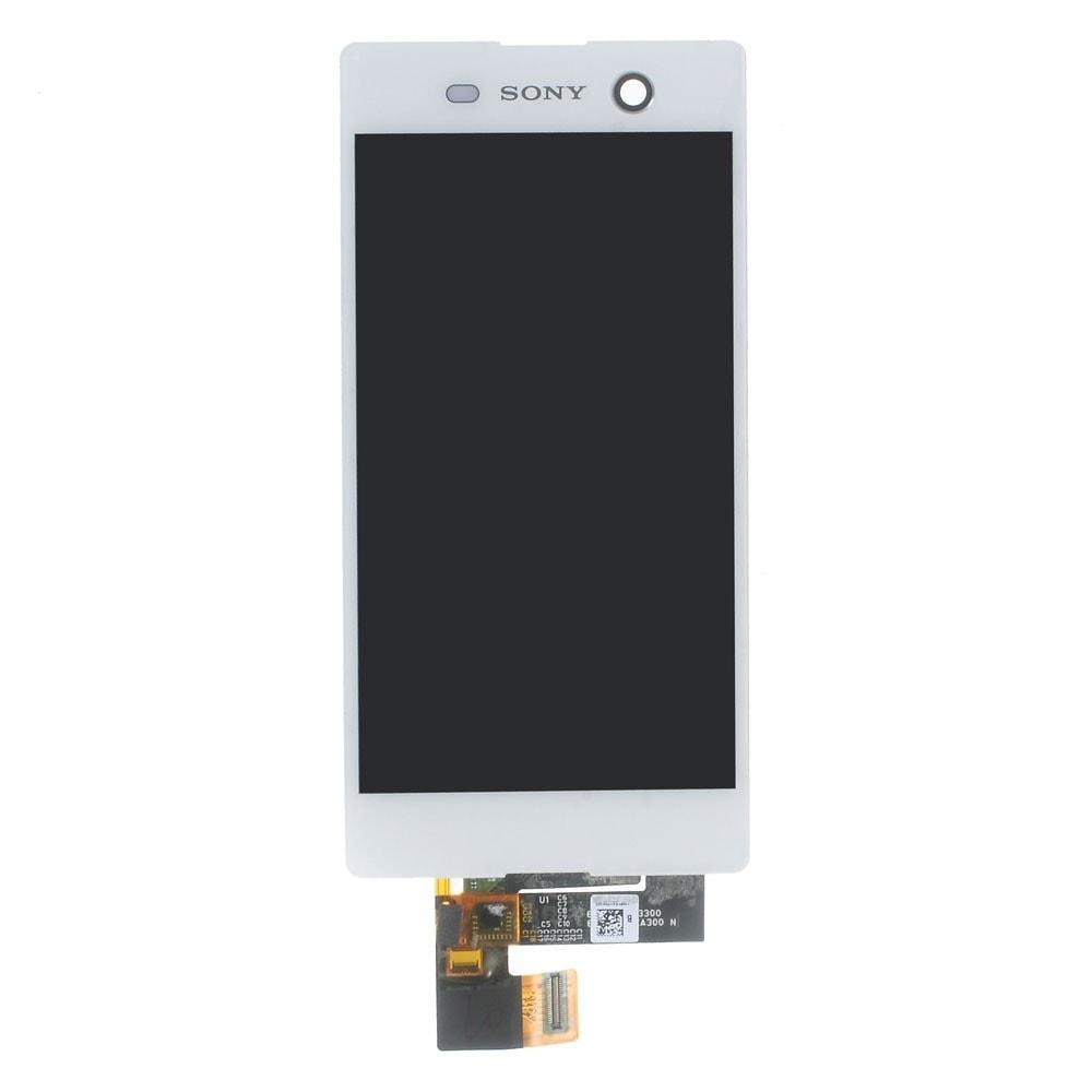 Sony Xperia M5 LCD displej bílý dotykové sklo komplet E5603