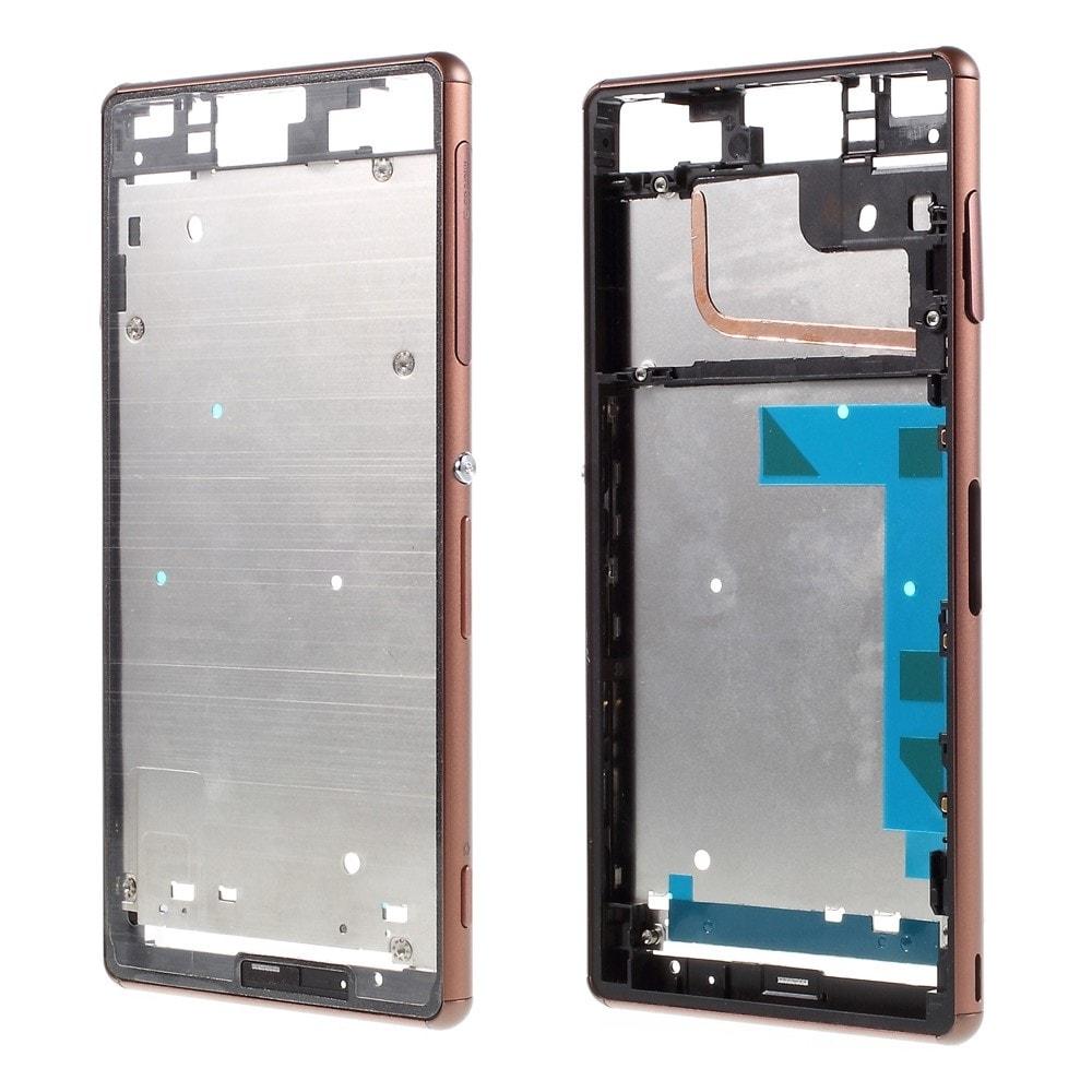 Sony Xperia Z3 střední kryt rámeček LCD displeje D6603 hnědý Copper