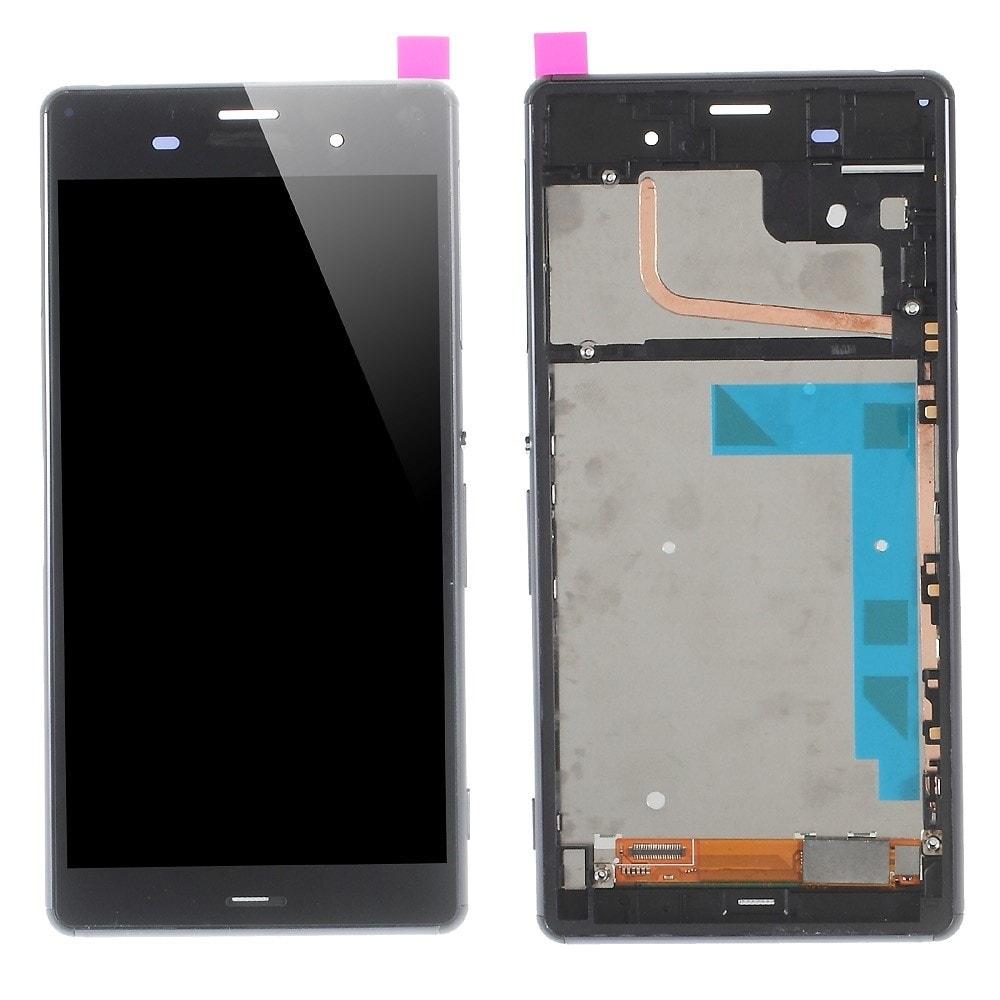 Sony Xperia Z3 LCD displej včetně rámečku komplet černý D6603