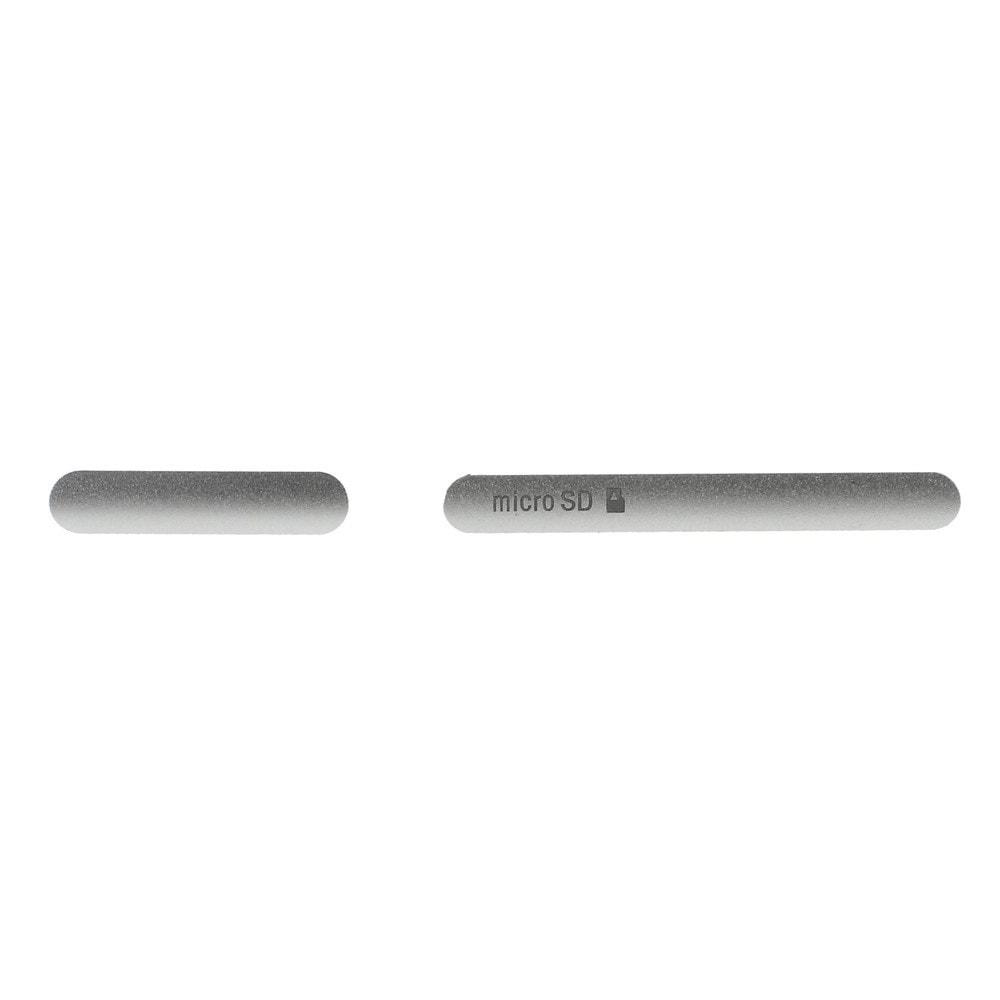 Sony Xperia Z3 voděodolné krytky USB konektoru a SIM SD Slotu D6603 stříbrné