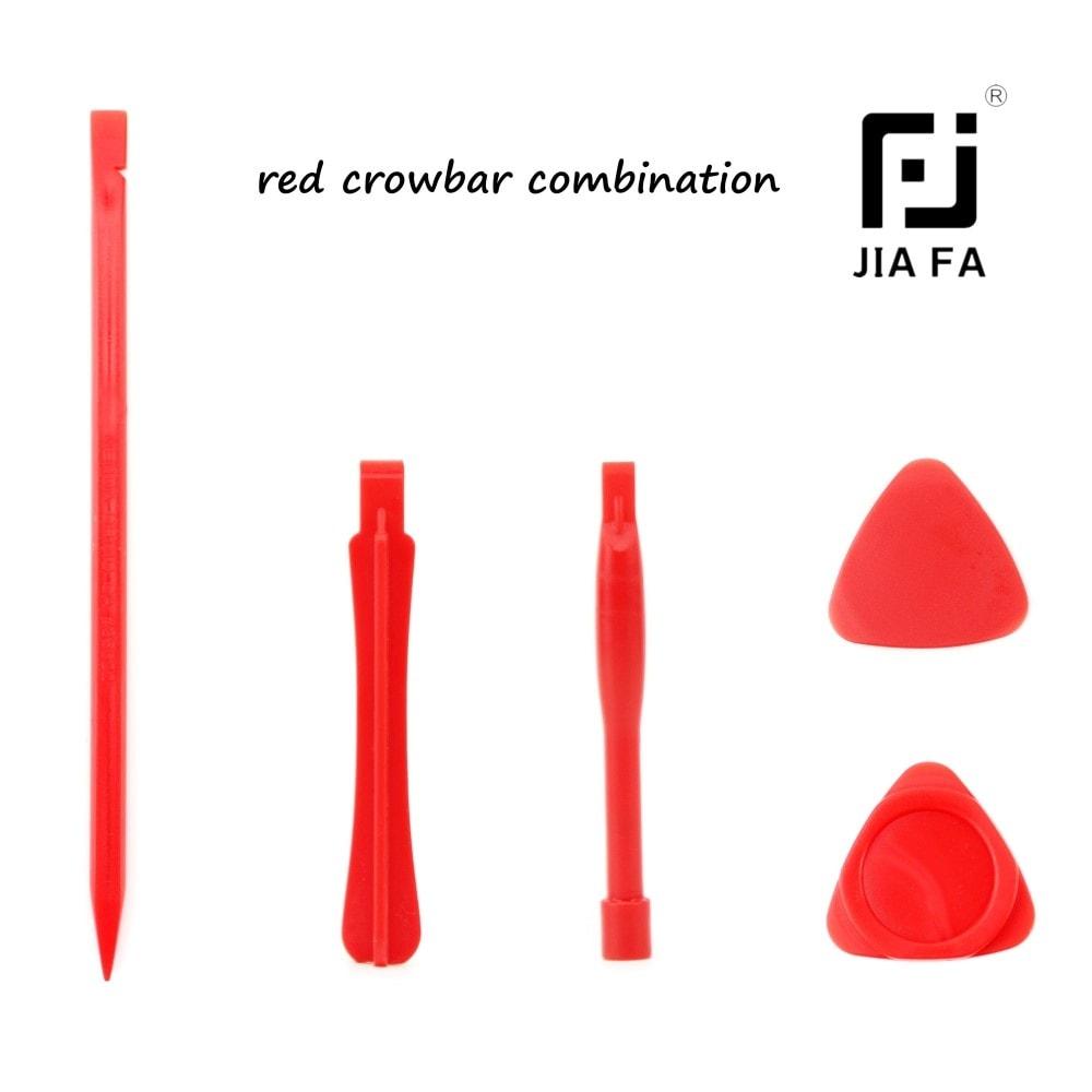 5ti dílná sada plastového nářadí trsátka páčidla JIA FA red
