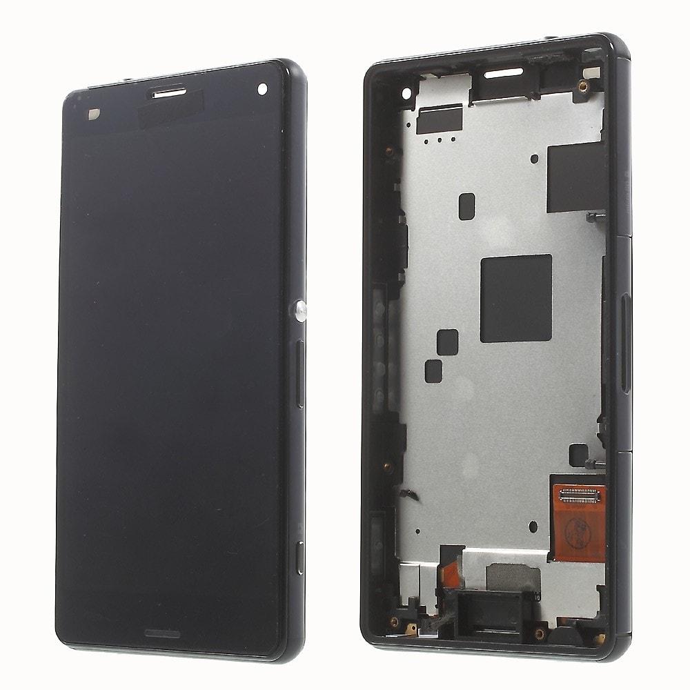 Sony Xperia Z3 Compact LCD displej včetně středního rámečku telefonu D5803 černá