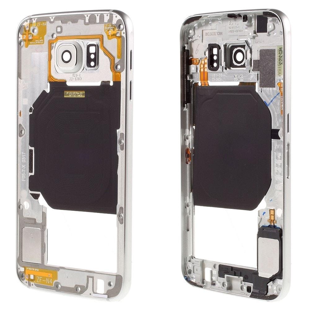 Samsung Galaxy S6 středový rámeček střední kryt LCD stříbrný G920F
