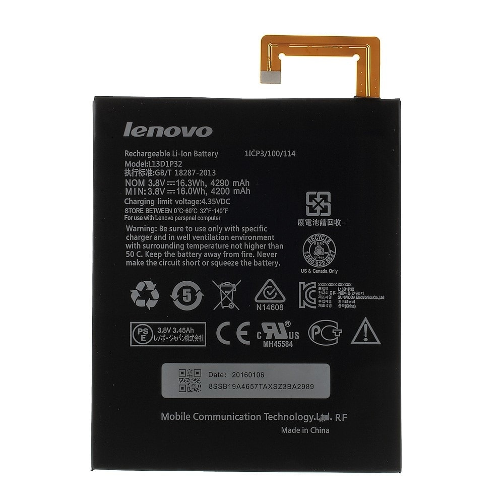 Lenovo Ideapad A8-50 A5500 Baterie L13D1P32