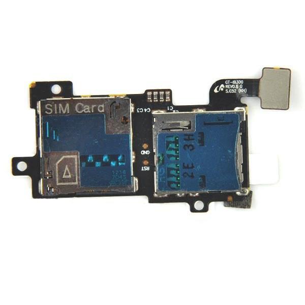 Samsung Galaxy S3 čtečka SIM karty a SD paměťové karty i9300
