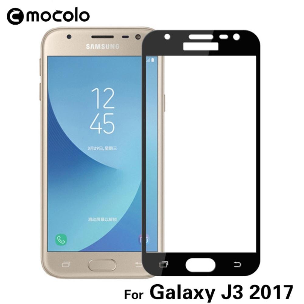 Samsung Galaxy J3 2017 Ochranné tvrzené sklo MOCOLO 3D černé J330F