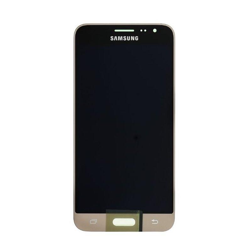 Samsung Galaxy J3 2016 LCD displej dotykové sklo zlaté J320F