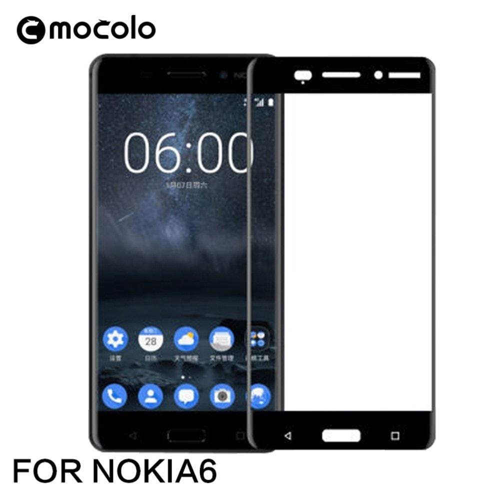 Nokia 6 Ochranné tvrzené sklo 3D Mocolo černé