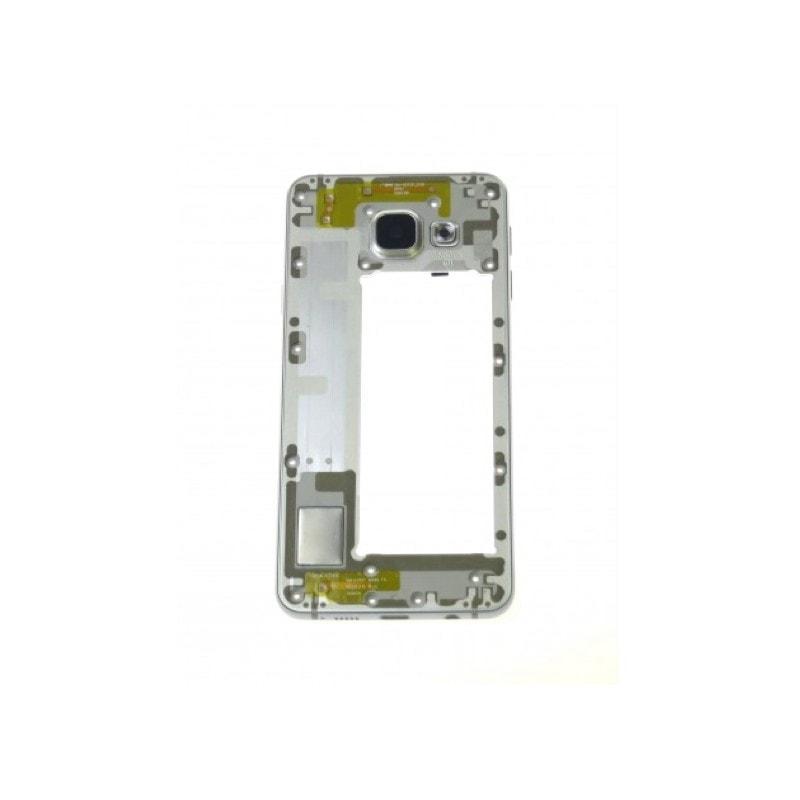 Samsung Galaxy A3 2016 střední rámeček kryt stříbrný A310F