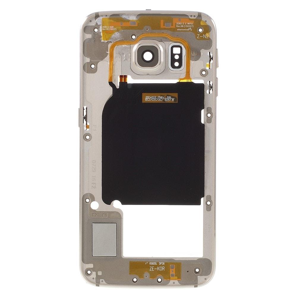 Samsung Galaxy S6 Edge střední kryt rámeček zlatý G925F