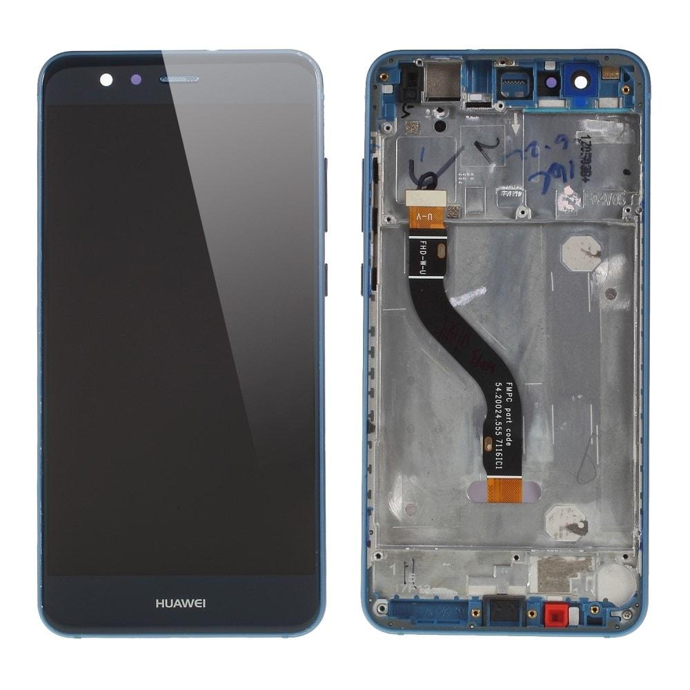 Huawei P10 Lite LCD displej dotykové sklo modré včetně rámečku