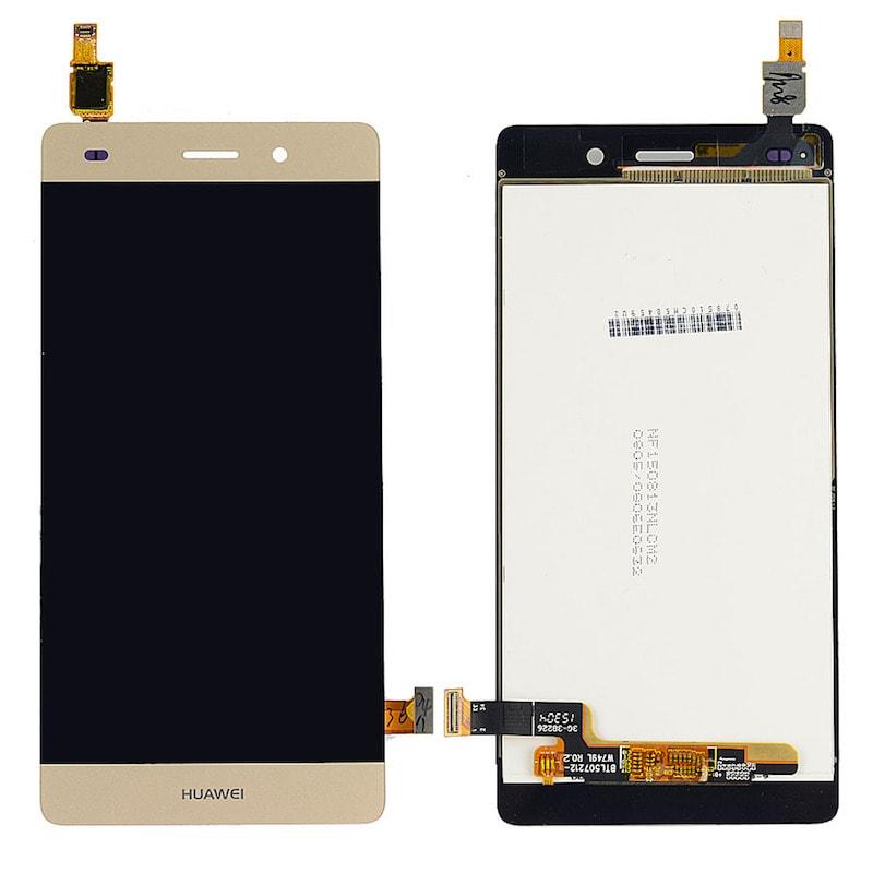 Huawei P8 Lite LCD displej zlatý dotykové sklo komplet