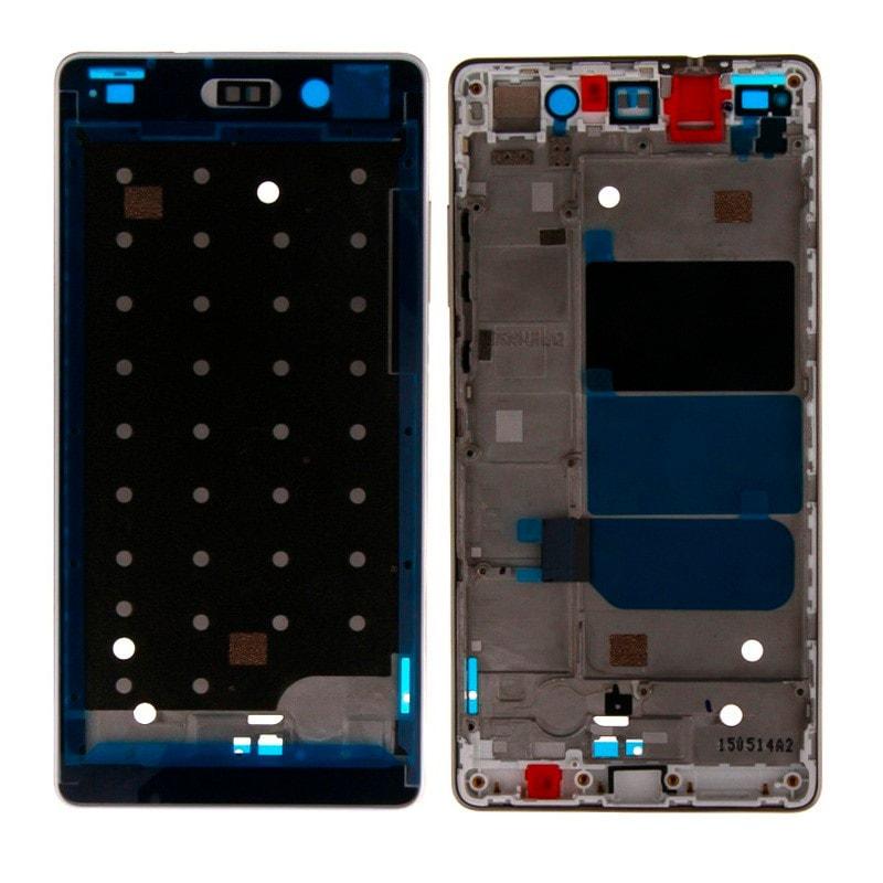 Huawei P8 Lite střední rámeček LCD displeje stříbrný bílý