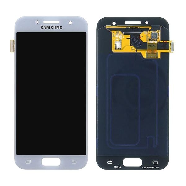 Samsung Galaxy A3 2017 LCD displej dotykové sklo modré A320F