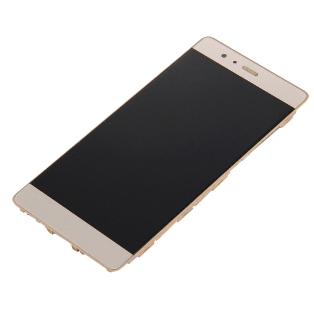 Huawei P9 LCD displej dotykové sklo komlet přední panel včetně rámečku zlatý