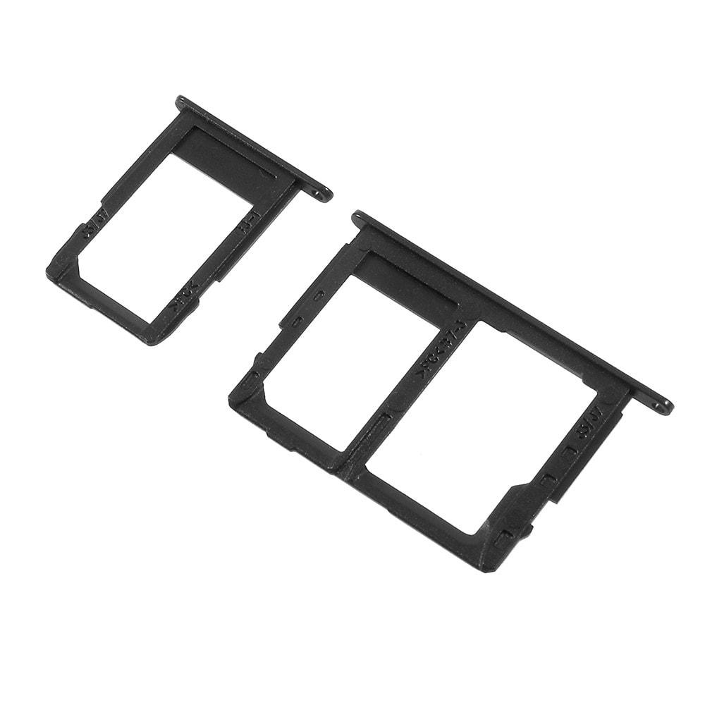 Samsung J5 2017 / J7 2017 šuplík na SIM SD Kartu černý J530 / J730