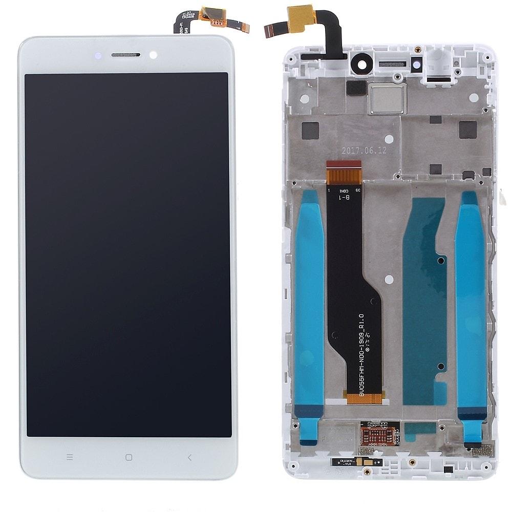 Xiaomi Redmi Note 4 Global / Note 4X LCD displej bílý včetně středního krytu rámečku