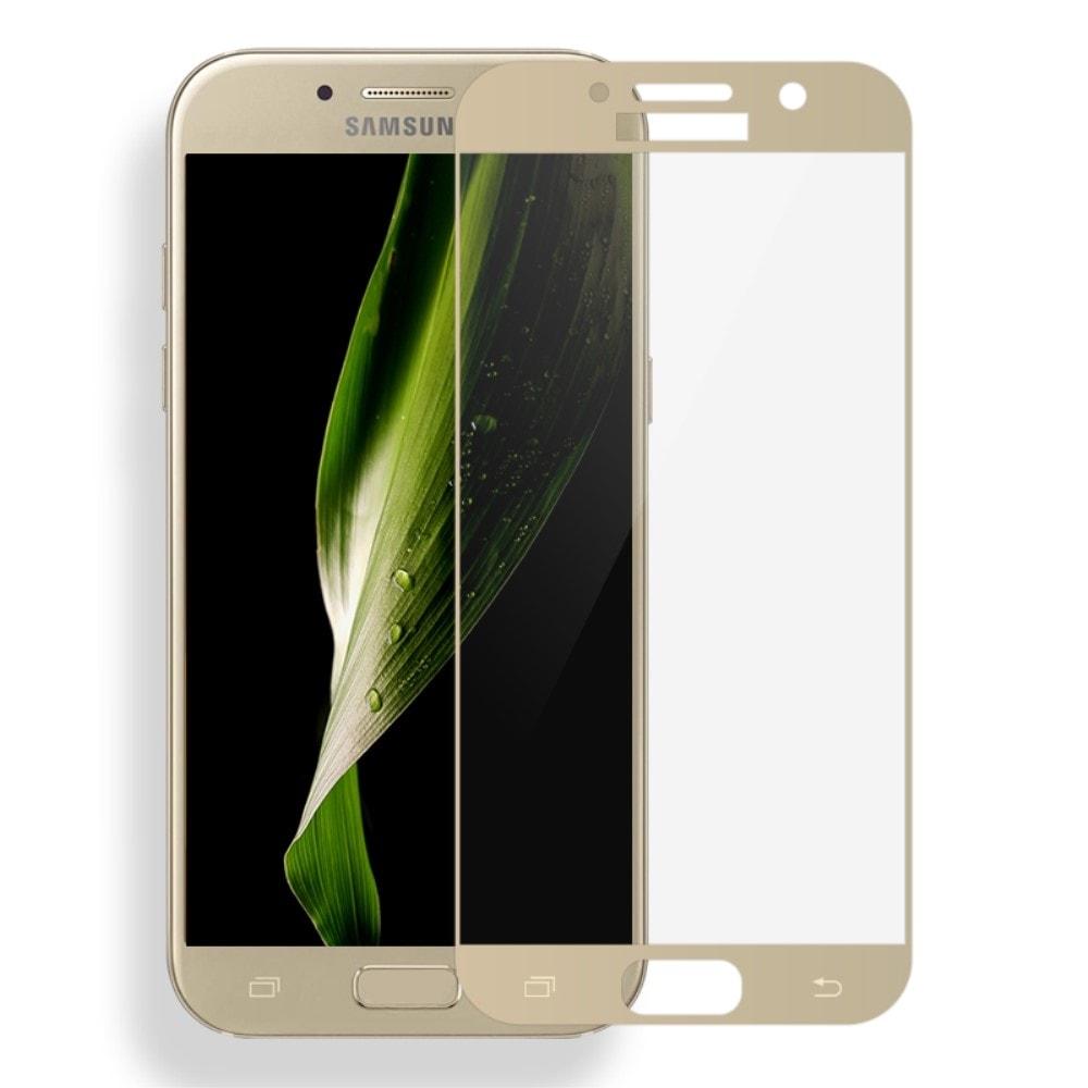 Samsung Galaxy A3 2017 Ochranné tvrzené sklo zlaté MOCOLO