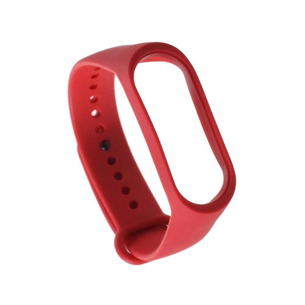 Xiaomi Mi Band 3 pásek na ruku řemínek silikon červený