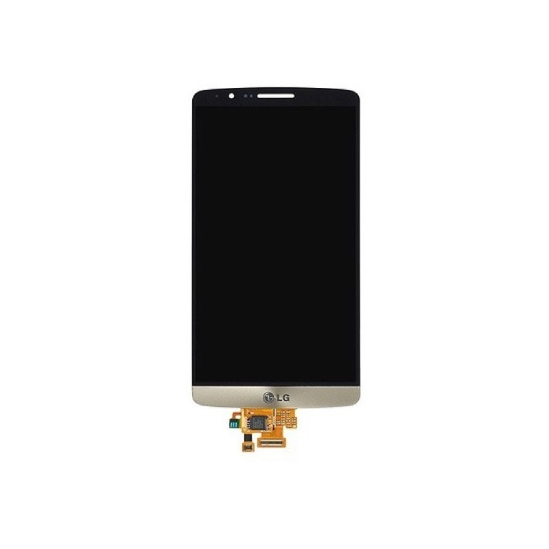 LG G3s LCD displej zlatý + dotykové sklo komplet D722