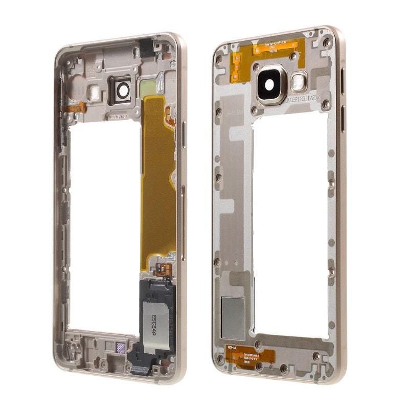 Samsung Galaxy A3 2016 střední rámeček kryt zlatý A310F